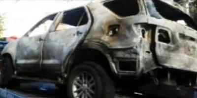 Buscan el auto que habría usado la persona que incendió la camioneta de Gustavo Sylvestre