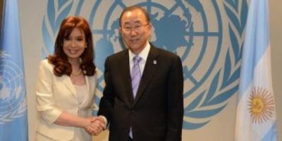Cristina Kirchner se reunió con Ban Ki-moon y sindicalistas en Nueva York por la deuda