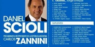 La fórmula presidencial del FpV Scioli-Zannini ya tiene boleta
