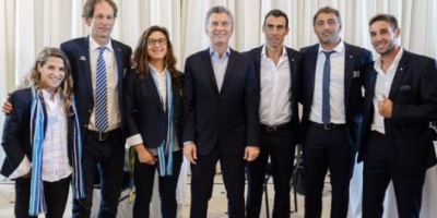 Mauricio Macri recibió a los medallistas olímpicos en la Residencia de Olivos