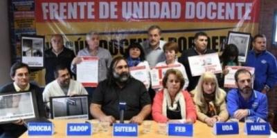 La justicia rechazó el pedido de los gremios docentes contra el descuento de los días de paro