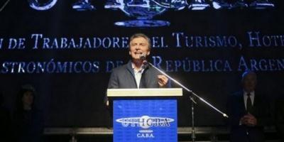 Silbaron a Macri en el almuerzo de Gastronómicos