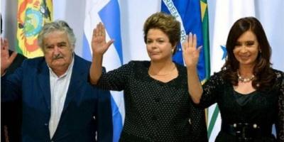 """Cristina Kirchner, Dilma Rousseff y Pepe Mujica encabezan la """"contracumbre"""" del G20"""