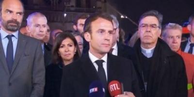 """Macron: """"Vamos a volver a construir Notre Dame"""""""