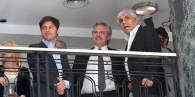 """Alberto Fernández: """"Hugo Moyano es un dirigente ejemplar"""""""