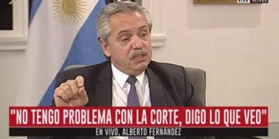 """Alberto: """"Hoy estamos volviendo a entrar al mundo dignamente"""""""