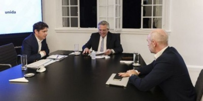 Cómo sigue el aislamiento: el Presidente está reunido con Kicillof y Rodríguez Larreta